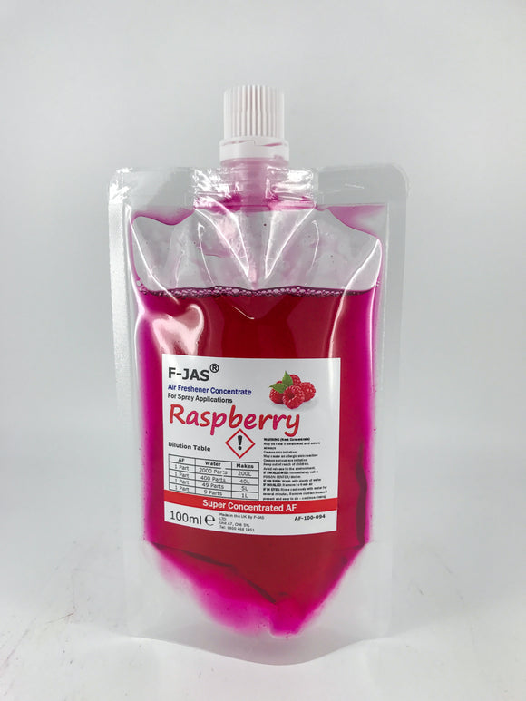 Air Freshener & Odour Eliminator (100ml Super Concentrated, Raspberry)