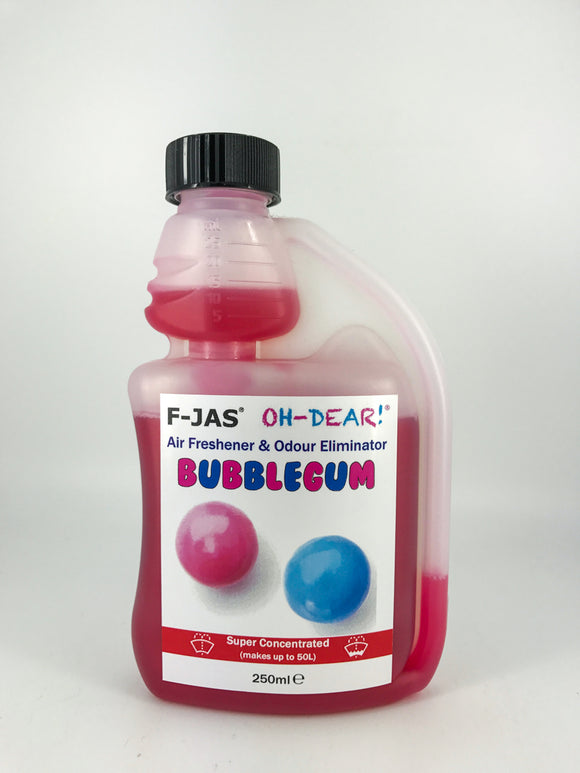 Air Freshener & Odour Eliminator (250ml Super Concentrated, Bubblegum)
