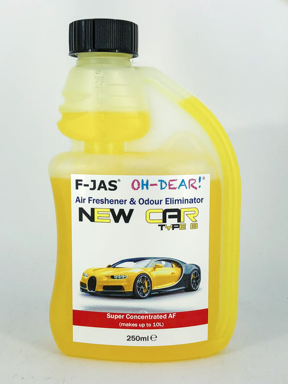 Air Freshener & Odour Eliminator (250ml Super Concentrated, New Car Type B)