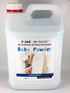 Air Freshener & Odour Eliminator (5L Concentrated, Double Strength, Baby Powder)