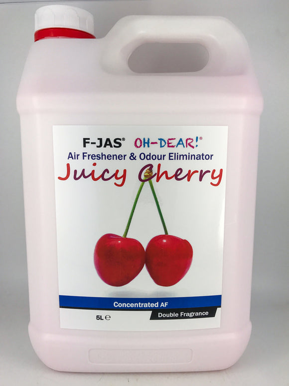 Air Freshener & Odour Eliminator (5L Concentrated, Double Strength, Juicy Cherry)