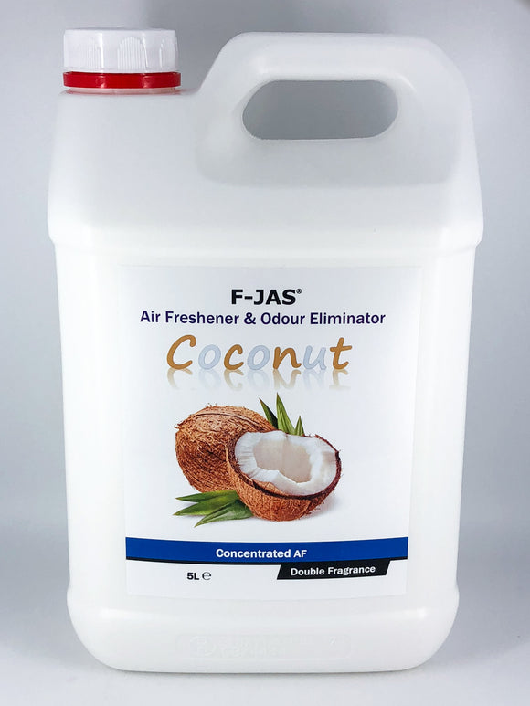 Air Freshener & Odour Eliminator (5L Concentrated, Double Strength, Coconut)