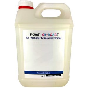 Air Freshener & Odour Eliminator (5L Concentrated, Double Strength, New Car Leather & Espresso)