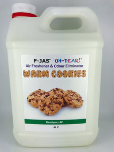 Air Freshener & Odour Eliminator (5L Readymix, Warm Cookies)