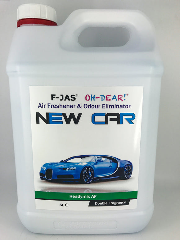 Air Freshener & Odour Eliminator (5L Readymix, Double Strength, New Car)