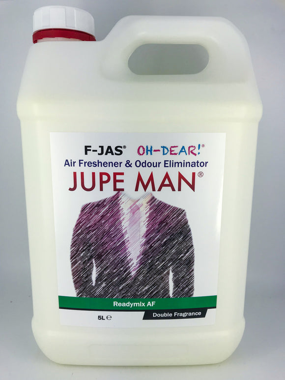 Air Freshener & Odour Eliminator (5L Readymix, Double Strength, Jupe Man)
