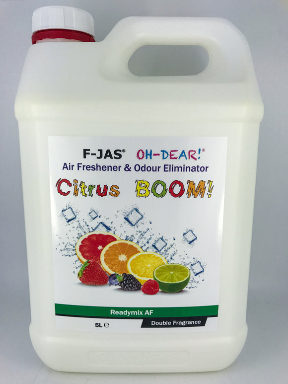 Air Freshener & Odour Eliminator (5L Readymix, Double Strength, Citrus BOOM!)
