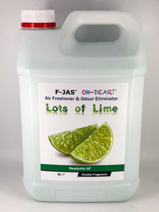 Air Freshener & Odour Eliminator (5L Readymix, Double Strength, Lots of Lime)