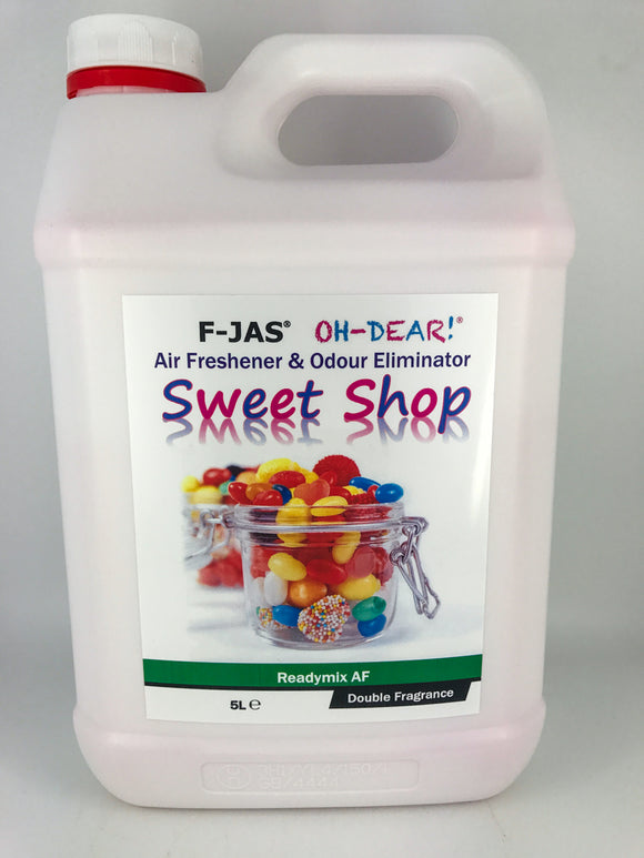 Air Freshener & Odour Eliminator (5L Readymix, Double Strength, Sweet Shop)