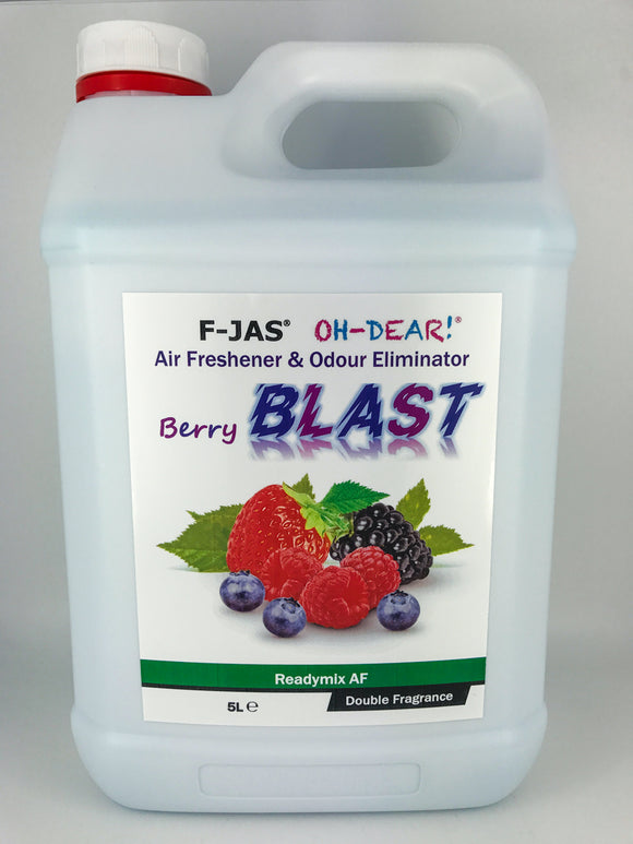 Air Freshener & Odour Eliminator (5L Readymix, Double Strength, Berry Blast)