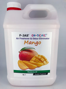 Air Freshener & Odour Eliminator (5L Readymix, Double Strength, Mango)