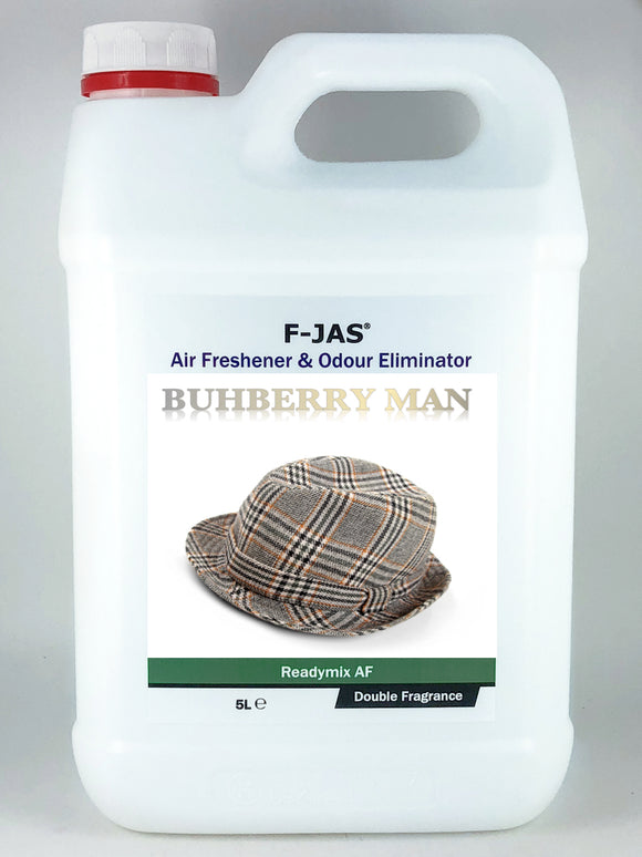 Air Freshener & Odour Eliminator (5L Readymix, Double Strength, Buhberry Man)