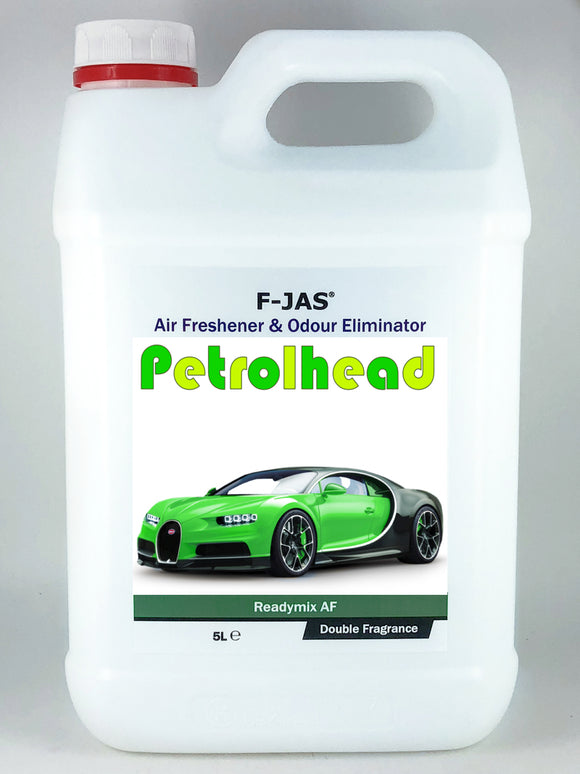 Air Freshener & Odour Eliminator (5L Readymix, Double Strength, Petrolhead)
