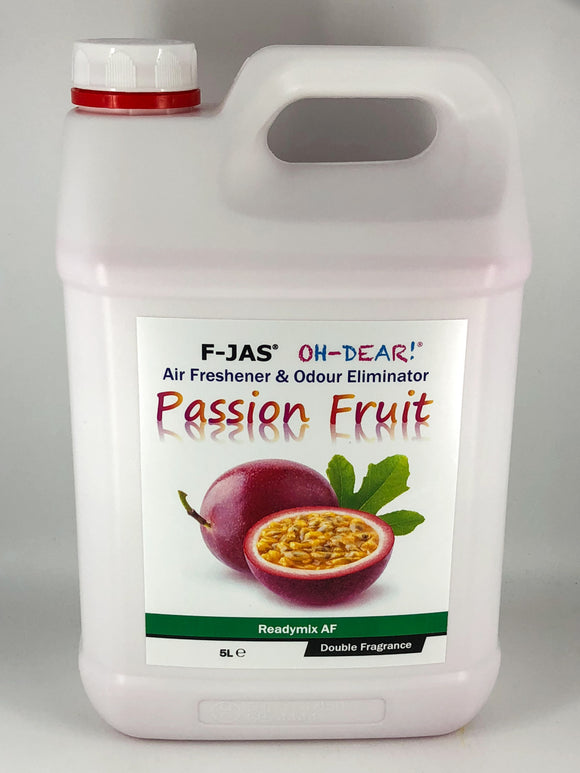 Air Freshener & Odour Eliminator (5L Readymix, Double Strength, Passion Fruit)