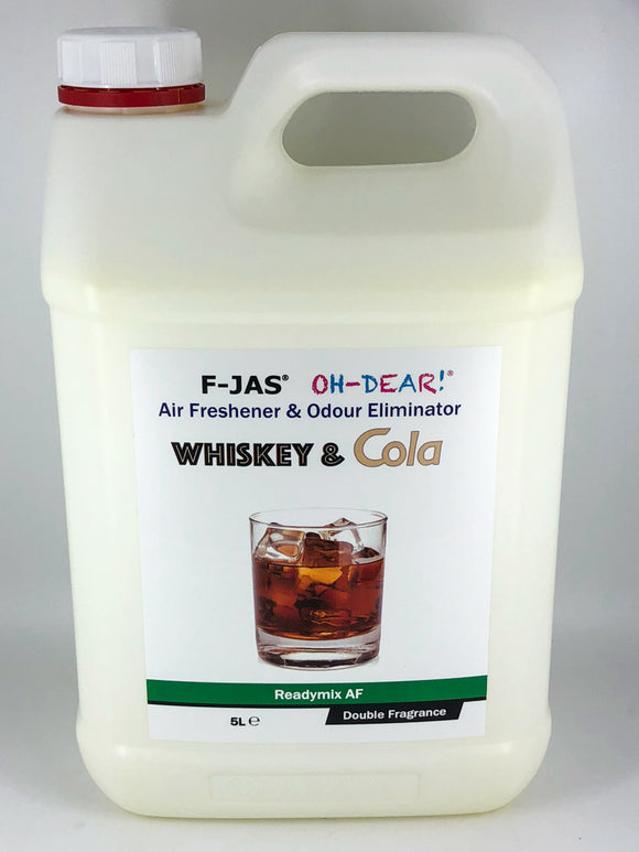 Air Freshener & Odour Eliminator (5L Readymix, Double Strength, Whiskey & Cola)