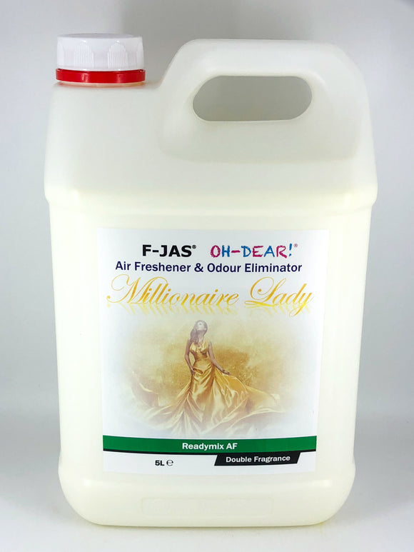 Air Freshener & Odour Eliminator (5L Readymix, Double Strength, Millionaire Lady)