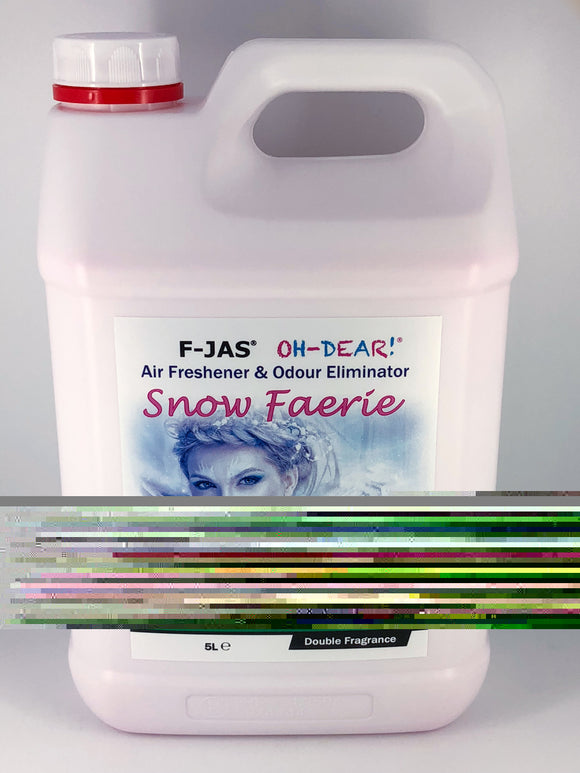 Air Freshener & Odour Eliminator (5L Readymix, Double Strength, Snow Faerie)