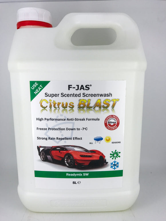 Super Scented Screenwash (5L Readymix, Citrus Blast)