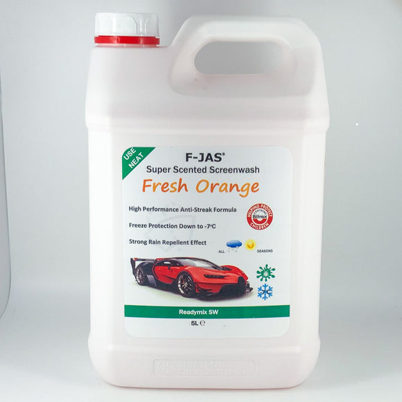Super Scented Screenwash (5L Readymix, Fresh Orange)