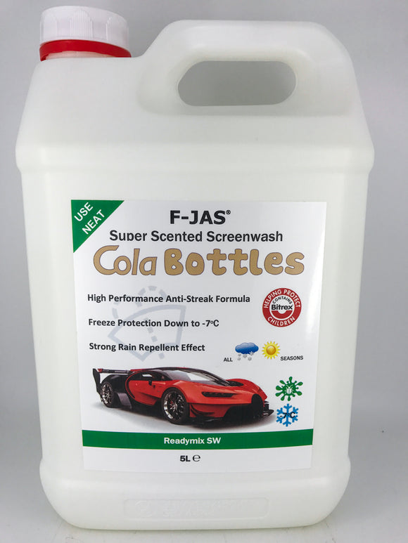 Super Scented Screenwash (5L Readymix, Cola Bottles)