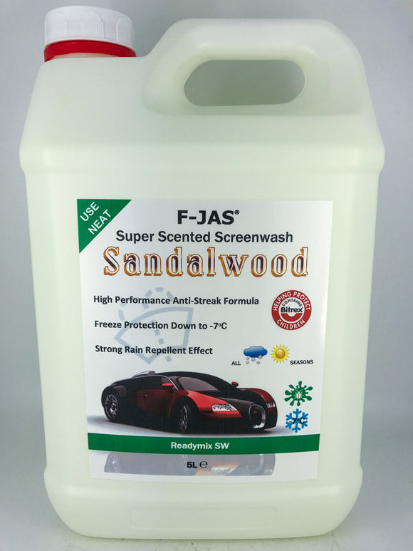 Super Scented Screenwash (5L Readymix, Sandalwood)