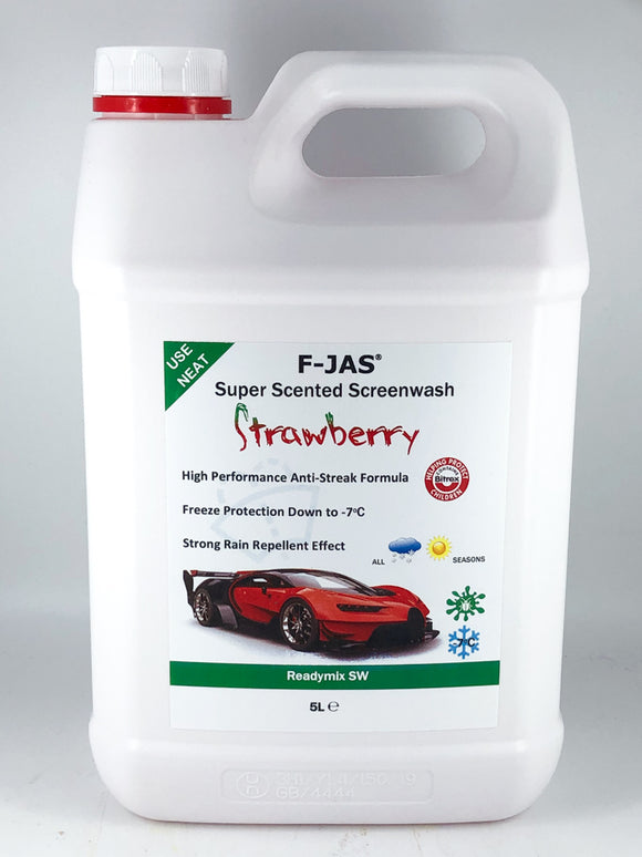 Super Scented Screenwash (5L Readymix, Strawberry)