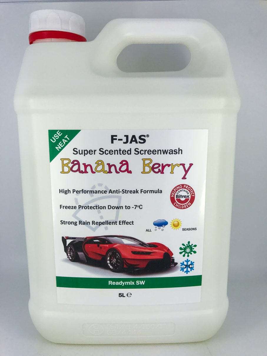 Super Scented Screenwash (5L Readymix, Banana Berry)