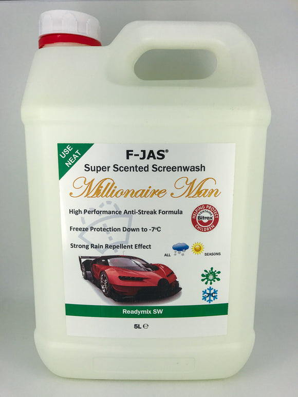 Super Scented Screenwash (5L Readymix, Millionaire Man)