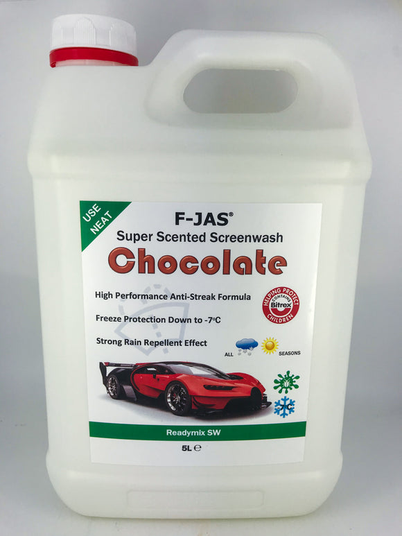 Super Scented Screenwash (5L Readymix, Chocolate)