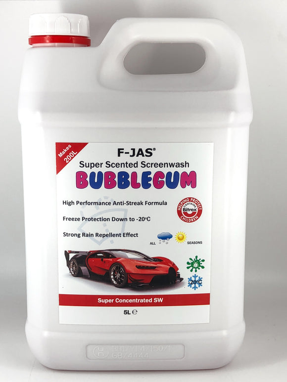 Super Scented Screenwash (5L Super Concentrated, Bubblegum)