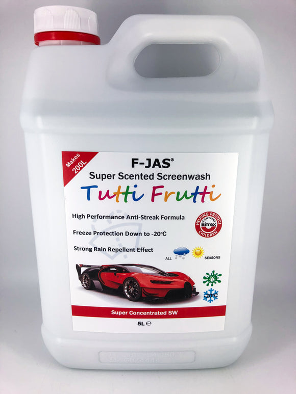 Super Scented Screenwash (5L Super Concentrated, Tutti Frutti)