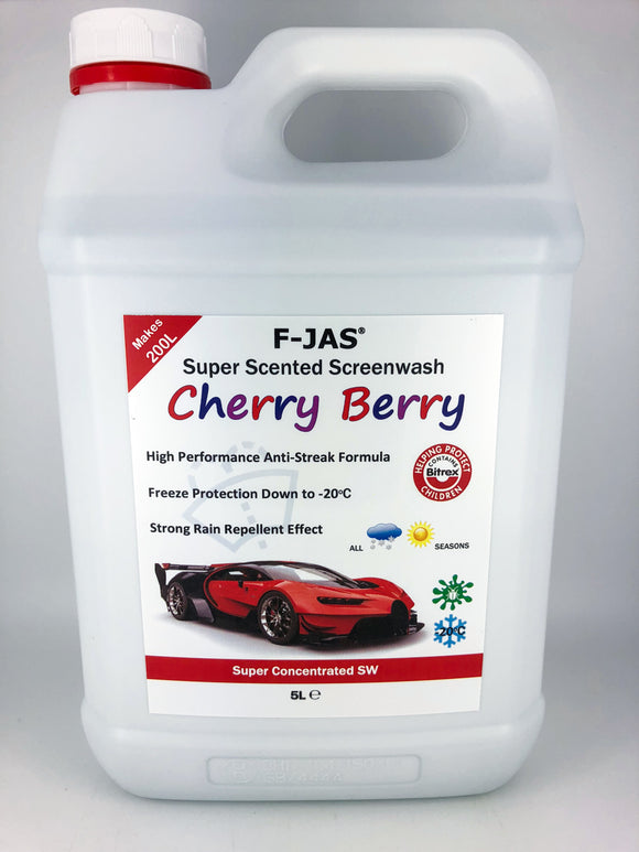 Super Scented Screenwash (5L Super Concentrated, Cherry Berry)