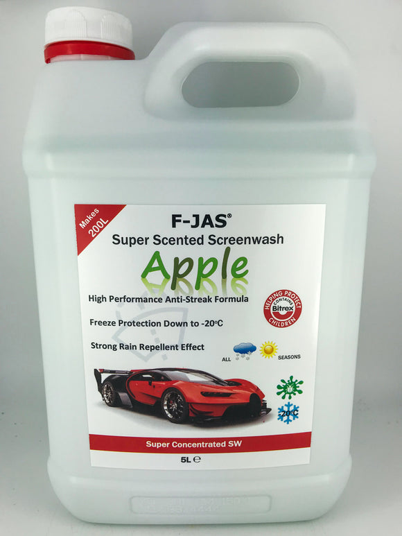 Super Scented Screenwash (5L Super Concentrated, Apple)