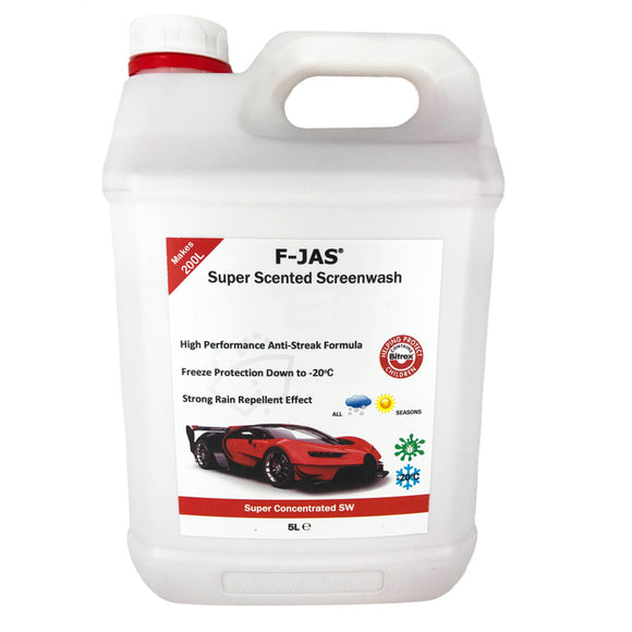 Super Scented Screenwash (5L Super Concentrated, Lemon and Vanilla)