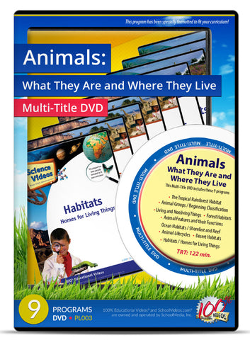 Animals: What They Are and Where They Live - Multi-Title DVD