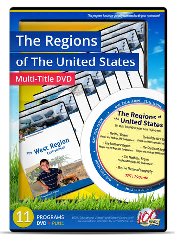 The Regions of the United States - Multi-Title DVD