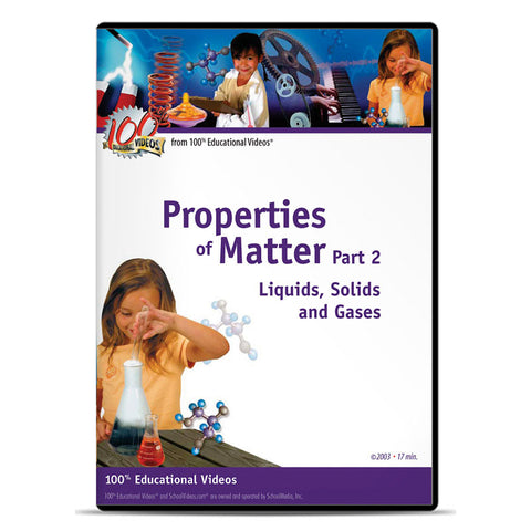 Properties of Matter, Part 2: Liquids, Solids and Gases