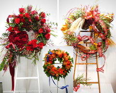 Wreathes and Crosses