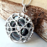 Hematite moon scape necklace