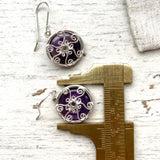 Amethyst and Silver drop earrings