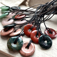 Simple unisex Gemstone pendants