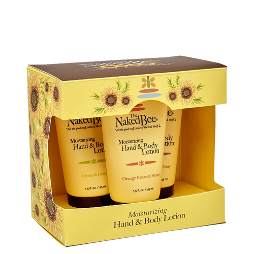 Hand and Body Lotion Trio - The Naked Bee