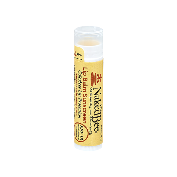 Orange Blossom Honey SPF 15 Tinted Lip Balm in Colorless .15oz - The Naked Bee