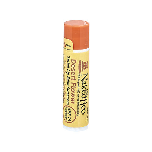 SPF 15 Orange Blossom Honey Tinted Lip Balm in Desert Flower - The Naked Bee