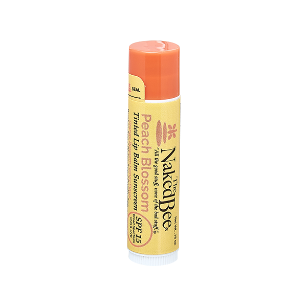 Orange Blossom Honey SPF 15 Tinted Lip Balm in Peach Blossom .15oz - The Naked Bee