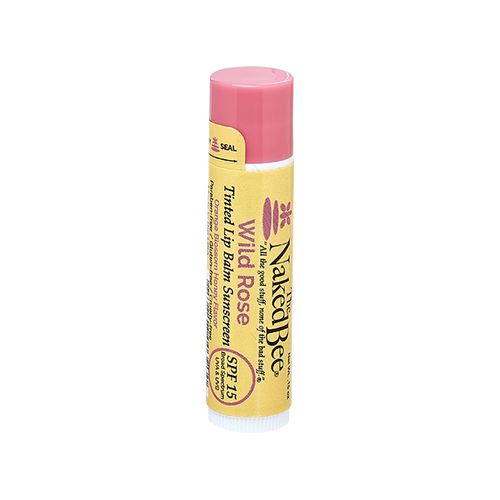 SPF 15 Orange Blossom Honey Tinted Lip Balm in Wild Rose - The Naked Bee
