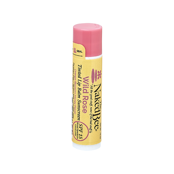 Orange Blossom Honey SPF 15 Tinted Lip Balm in Wild Rose .15oz - The Naked Bee