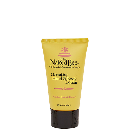 1.5 oz. Vanilla, Rose & Honey Hand & Body Lotion - The Naked Bee