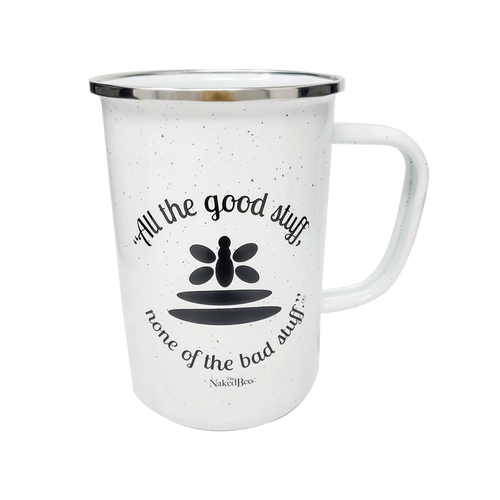 "22 oz. ""All the good stuff"" Campfire Coffee Mug - The Naked Bee"