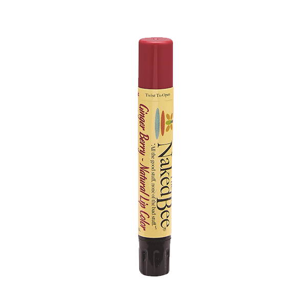 Ginger Berry Shimmering Lip Color - The Naked Bee